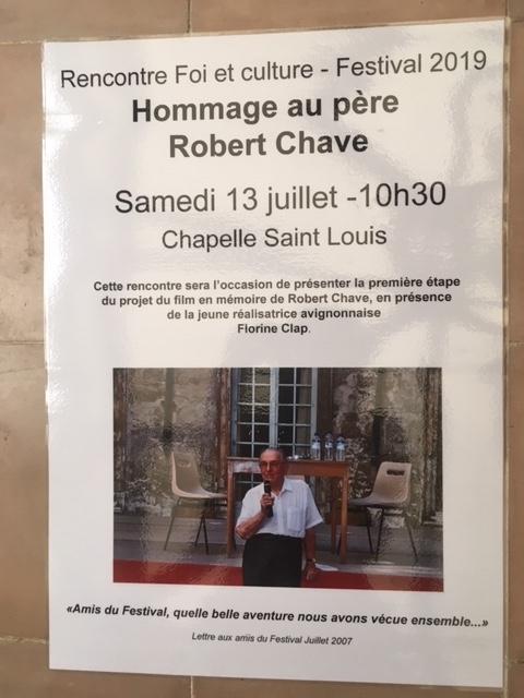 Court métrage sur Robert Chave : une initiative de Foi et Culture @ Chapelle Saint-Louis,