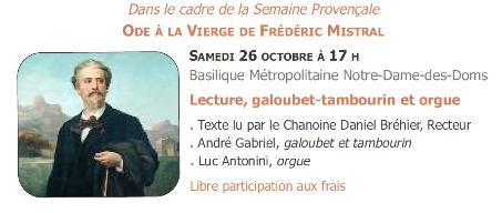 Musique Sacrée - Ode à la Vierge de Frederic Mistral @ Notre Dame des Doms