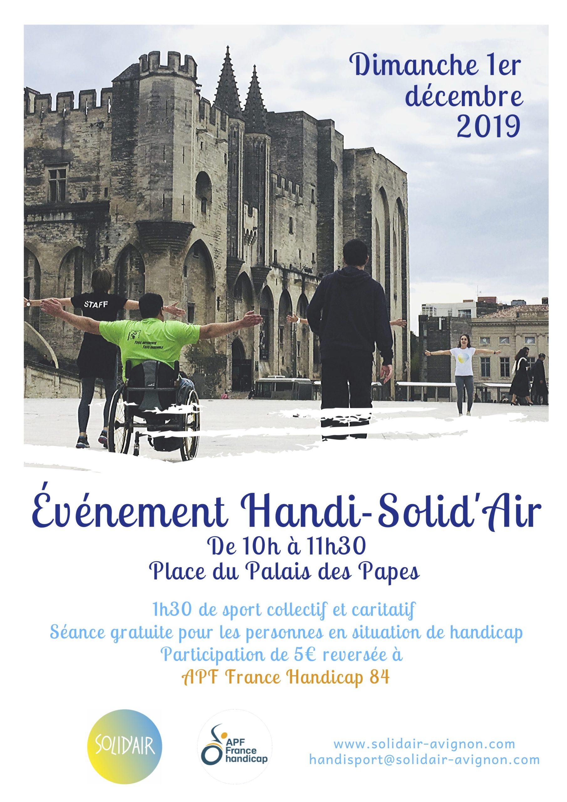 Le rendez-vous des sportifs solidaires par L'association Solid'Air @ Place du Palais, à Avignon
