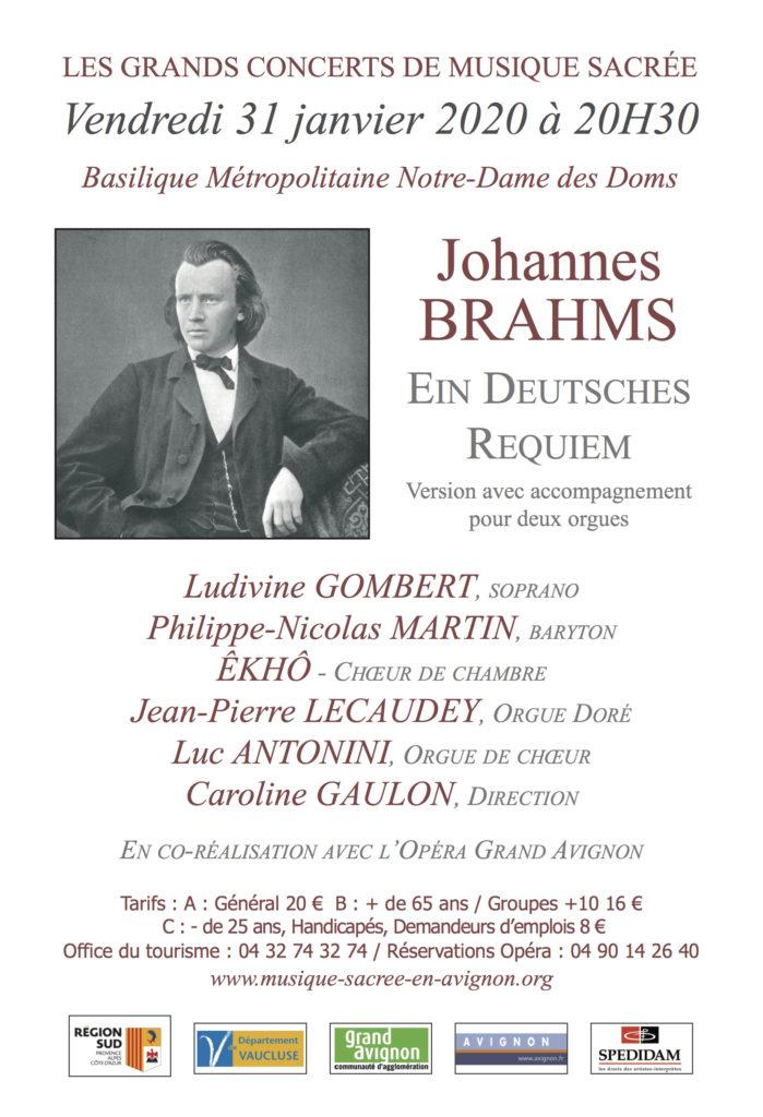 Concert exceptionnel Musique Sacrée - Requiem Allemand de Brahms @ Métropole Notre-Dame-des-Doms - Avignon