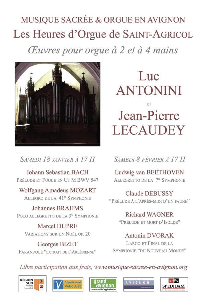 Musique Sacrée - Heures d'Orgues de Saint-Agricol @ Collégiale Saint-Agricol - Avignon